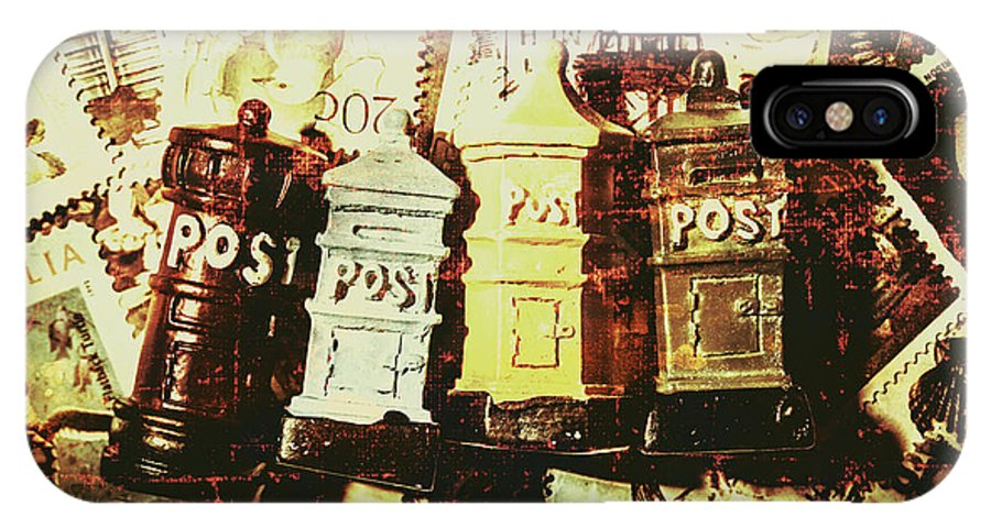 Post IPhone X Case featuring the photograph The Vintage Postage Card by Jorgo Photography - Wall Art Gallery