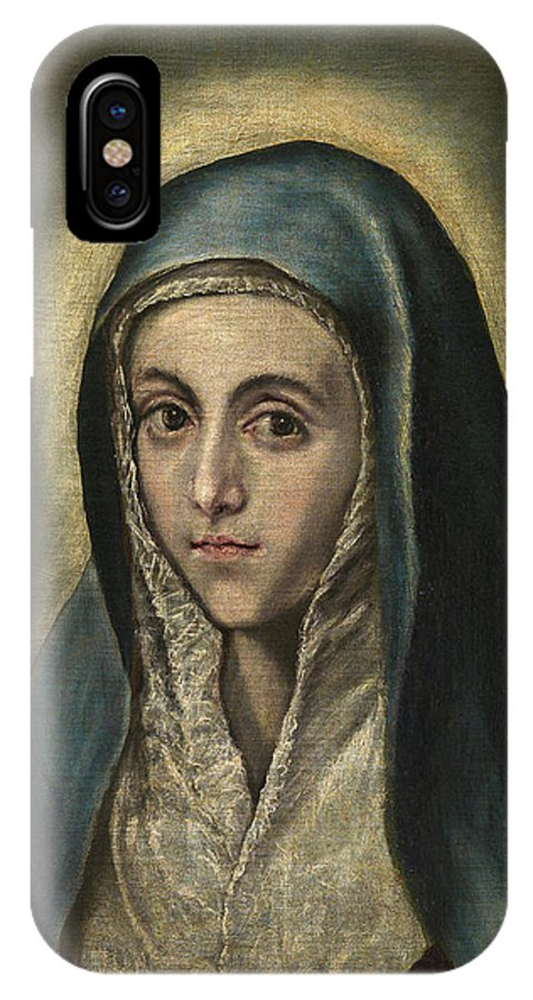 Blessed Virgin Mary IPhone X Case featuring the painting The Virgin Mary by El Greco