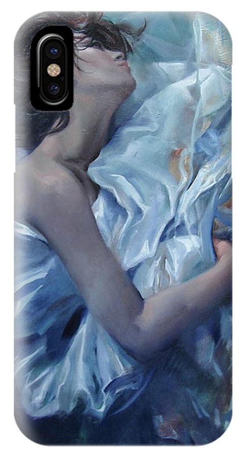 Ignatenko IPhone X Case featuring the painting The waiting for the spring by Sergey Ignatenko