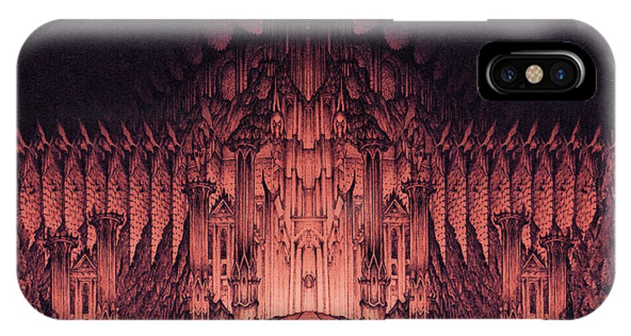 Barad Dur IPhone Case featuring the drawing The Walls Of Barad Dur by Curtiss Shaffer