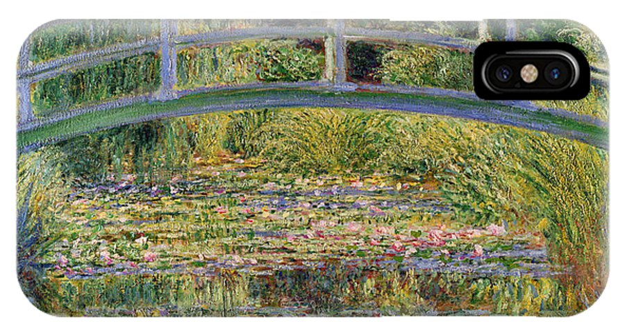 The IPhone X Case featuring the painting The Waterlily Pond With The Japanese Bridge by Claude Monet
