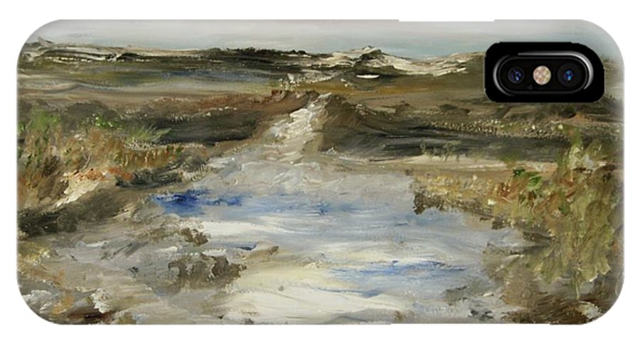 Landscape IPhone X Case featuring the painting The Waterway by Edward Wolverton