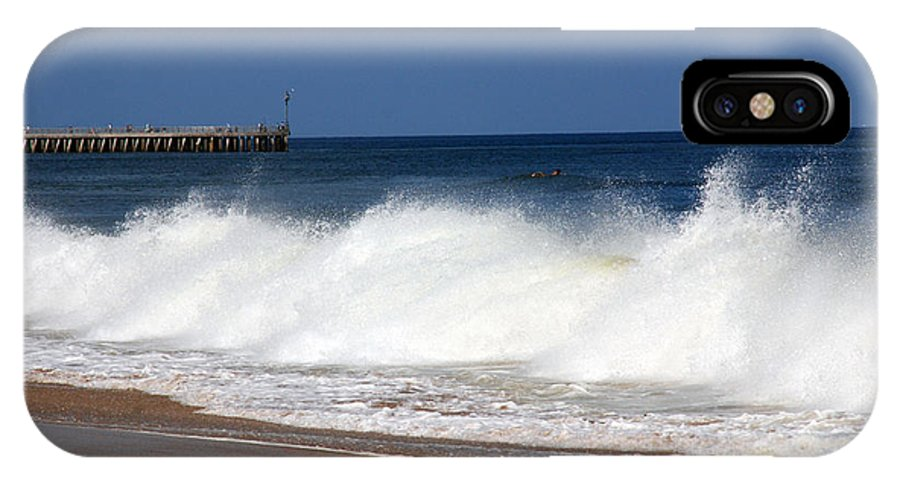 The Wave IPhone X Case featuring the photograph The Wave by Susanne Van Hulst
