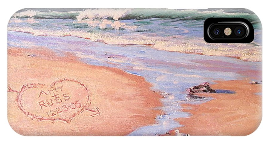 Seascape IPhone X Case featuring the painting The Wedding Gift by Laura Lee Zanghetti