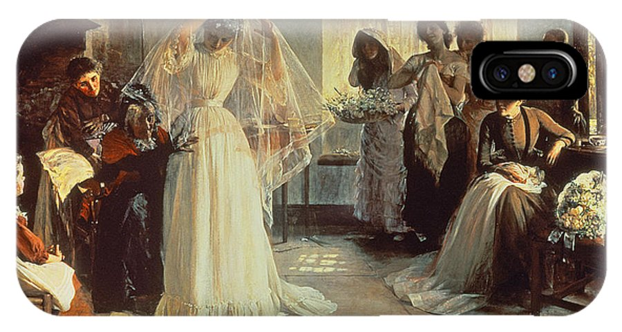 Wedding Morning IPhone X Case featuring the painting The Wedding Morning by John Henry Frederick Bacon