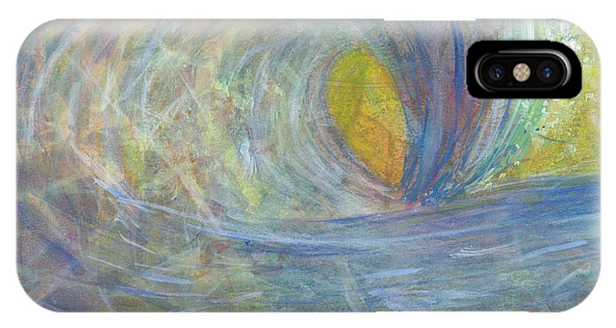 Wave IPhone X Case featuring the painting The Wedge by Arlissa Vaughn