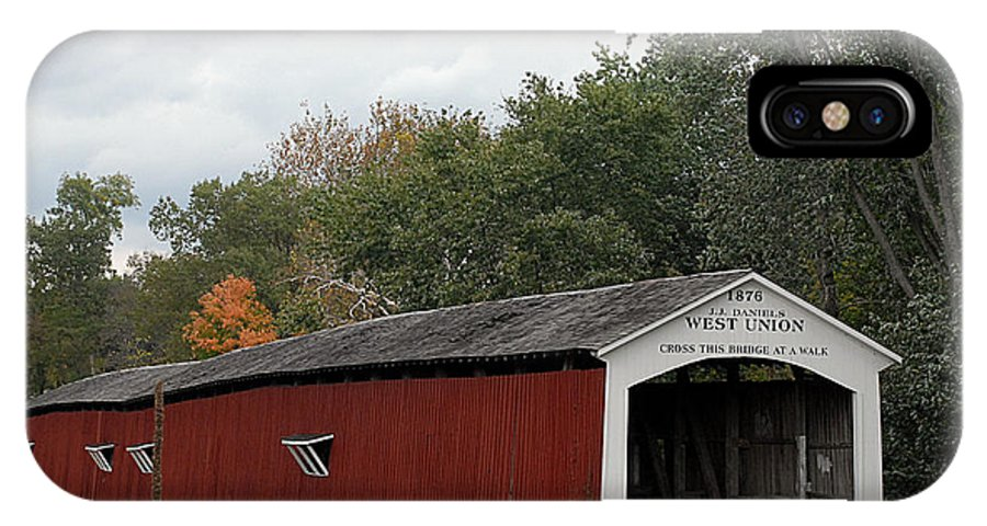 Landscape IPhone Case featuring the photograph The West Union Covered Bridge by John McAllister
