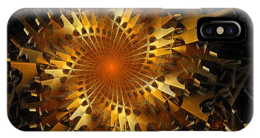Digital Art IPhone Case featuring the digital art The Wheels Of Time by Amanda Moore