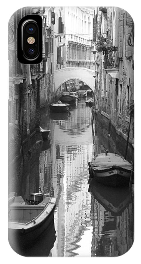 Venice IPhone X Case featuring the photograph The White Bridge by Donna Corless