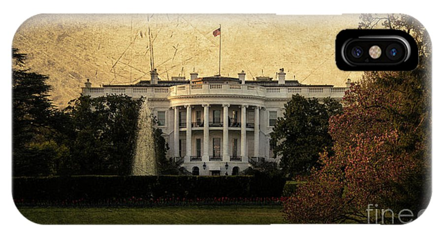 White IPhone X Case featuring the photograph The White House by Rob Hawkins
