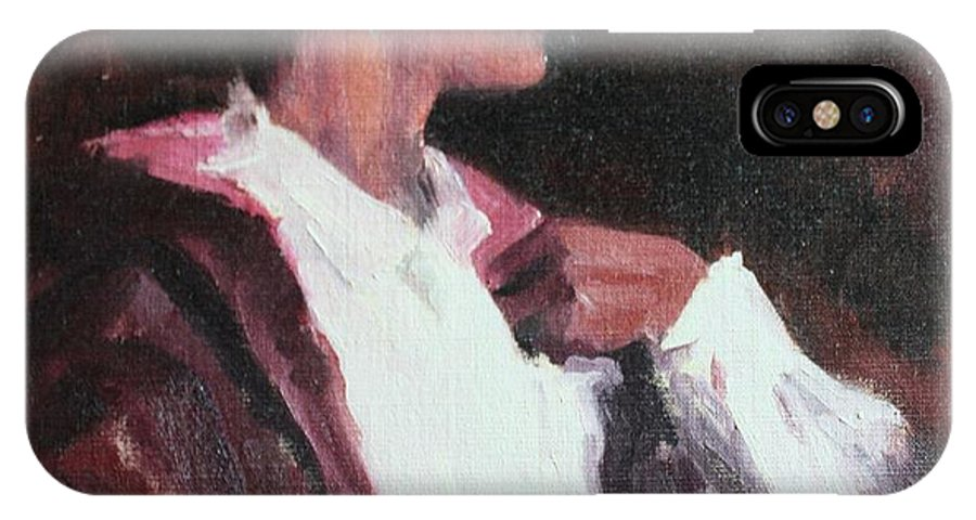 Woman IPhone X Case featuring the painting The Will Of A Woman by Rachel Hames
