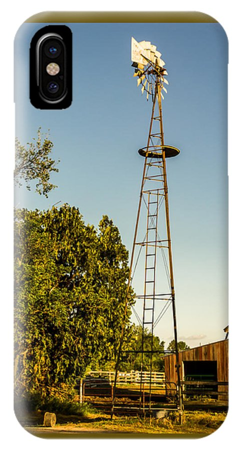 Jay Stockhaus IPhone X Case featuring the photograph The Windmill by Jay Stockhaus