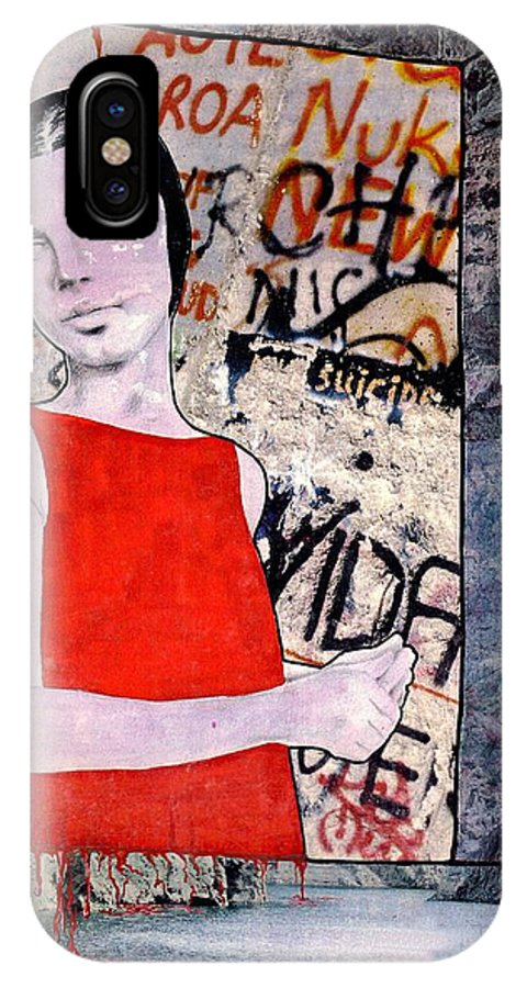 Woman Window Wall Water Blood Life IPhone X Case featuring the mixed media The Window by Veronica Jackson