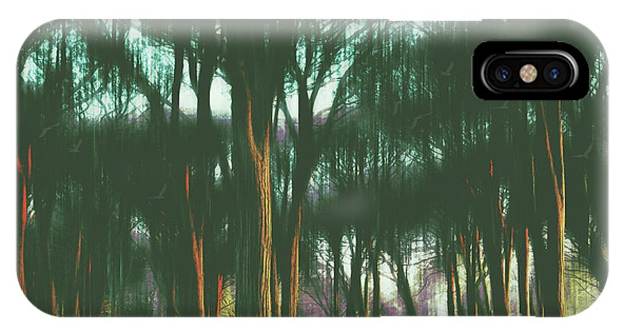 Woods IPhone X Case featuring the photograph The Woods by Karen Black