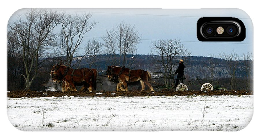 Amish IPhone X Case featuring the photograph The Work Is Never Done by George Jones