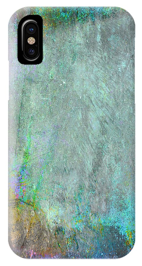 Gold IPhone X Case featuring the painting The Writing On The Wall by Julie Niemela