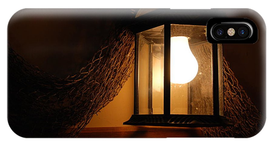 Lantern IPhone X Case featuring the photograph There Is Light In The Dark by Susanne Van Hulst