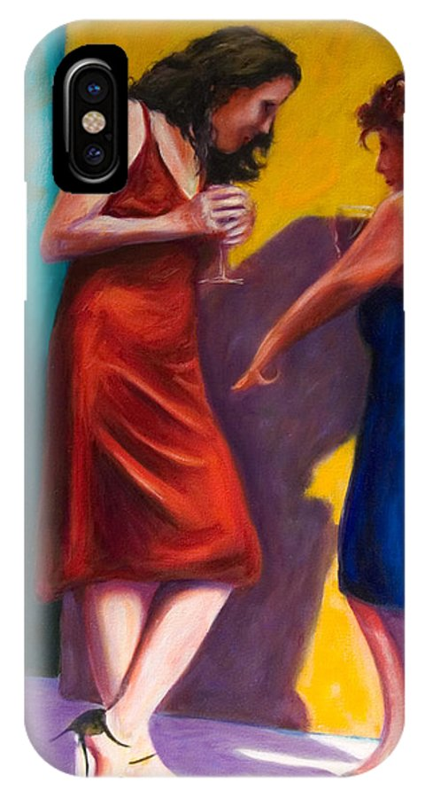 Figurative IPhone X Case featuring the painting There by Shannon Grissom
