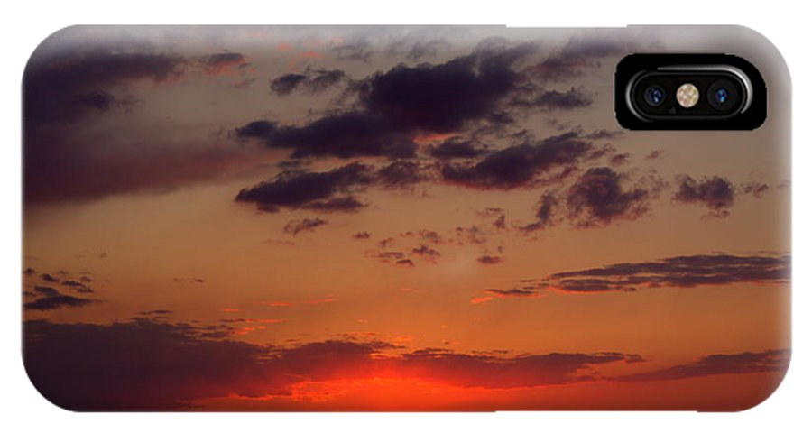 Grand Bend IPhone X / XS Case featuring the photograph There She Goes by John Scatcherd