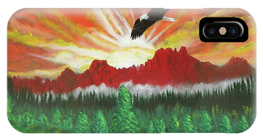 Acrylic IPhone Case featuring the painting They That Wait Upon The Lord  Isa 40 31 by Laurie Kidd