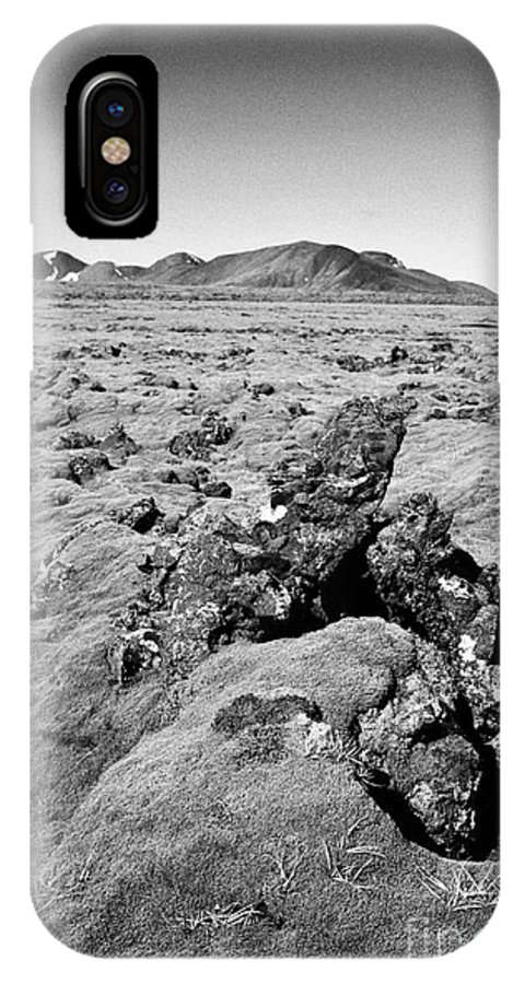 Thick IPhone X / XS Case featuring the photograph Thick Moss Covered Lava Fields At Hellisheidi Due To The Hengill Volcano Iceland by Joe Fox