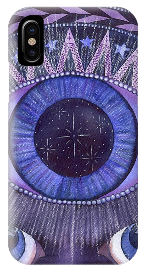 Thrid Eye IPhone X Case featuring the painting Third Eye Chakra by Catherine G McElroy