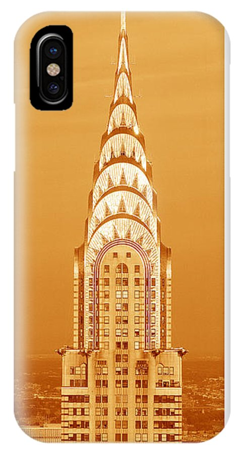 Photography IPhone X Case featuring the photograph Chrysler Building At Sunset by Panoramic Images
