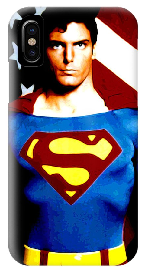 Superman IPhone X Case featuring the digital art This Is Superman by Saad Hasnain