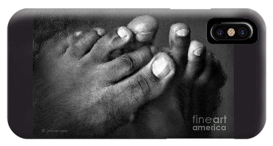 Feet IPhone Case featuring the photograph This Little Piggy by Jacqueline Milner