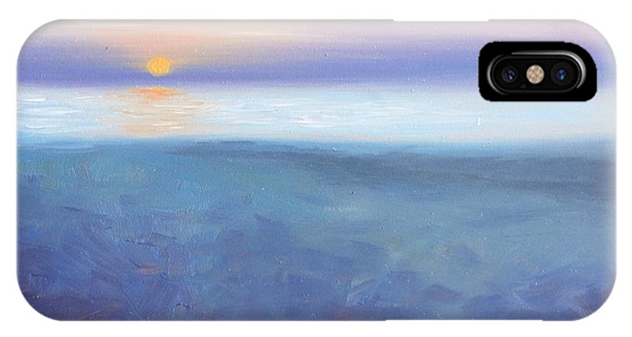 Oil IPhone X Case featuring the painting This Never Gets Old by Greg Neal