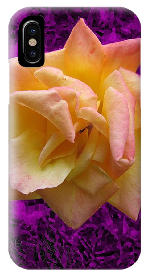 Rose IPhone X Case featuring the digital art This Rose For You by Tim Allen