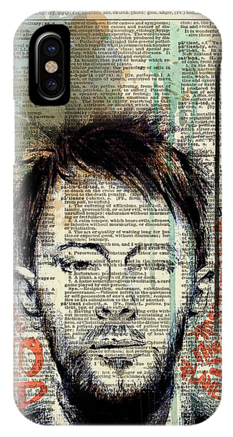 Jimi Hendrix IPhone X Case featuring the painting Thom Yorke by Art Popop