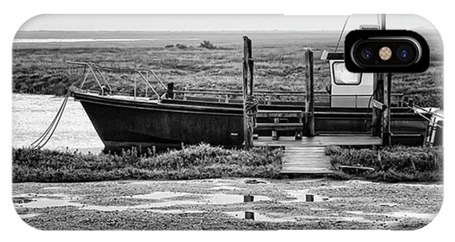 Amazing IPhone X Case featuring the photograph Thornham Harbour, North Norfolk by John Edwards