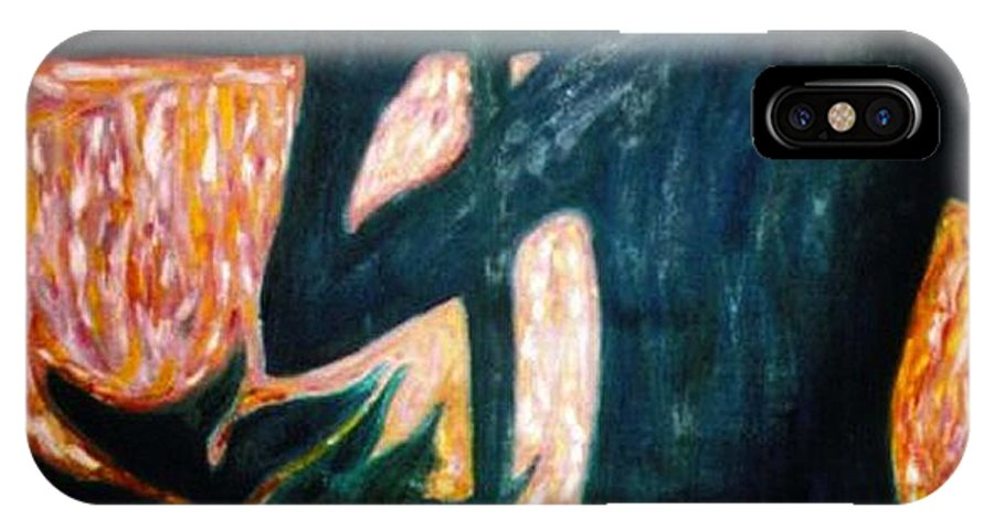 Portrait IPhone X Case featuring the painting Those Were The Shadows That Was The Wall II by Stephen Mead