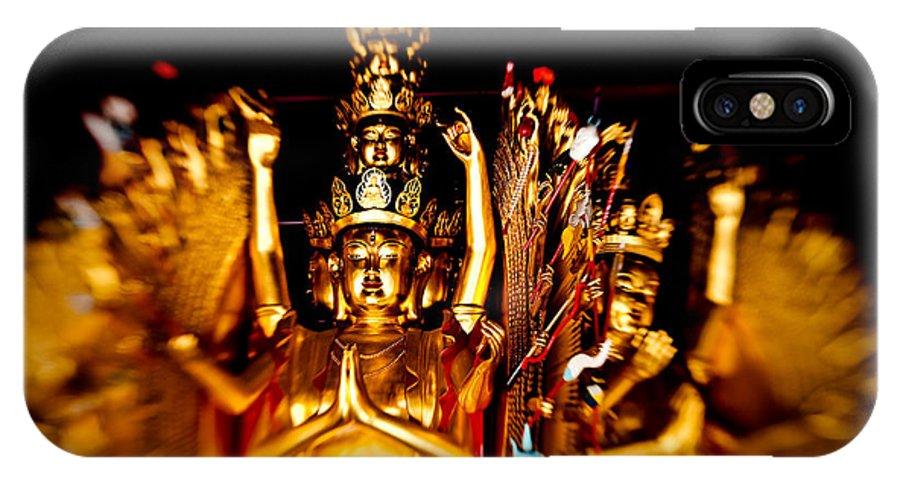 Asian IPhone X Case featuring the photograph Thousand Hands Buddha by Venetta Archer