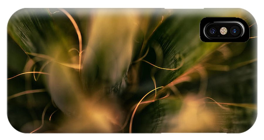 Abstract IPhone X Case featuring the photograph Threads And Spears by Venetta Archer