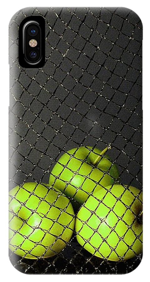 Three Apples IPhone Case featuring the photograph Three Apples by Viktor Savchenko