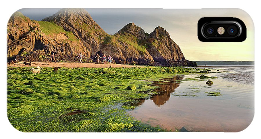 Three Cliffs IPhone X Case featuring the photograph Three Cliffs Bay 3 by Phil Fitzsimmons
