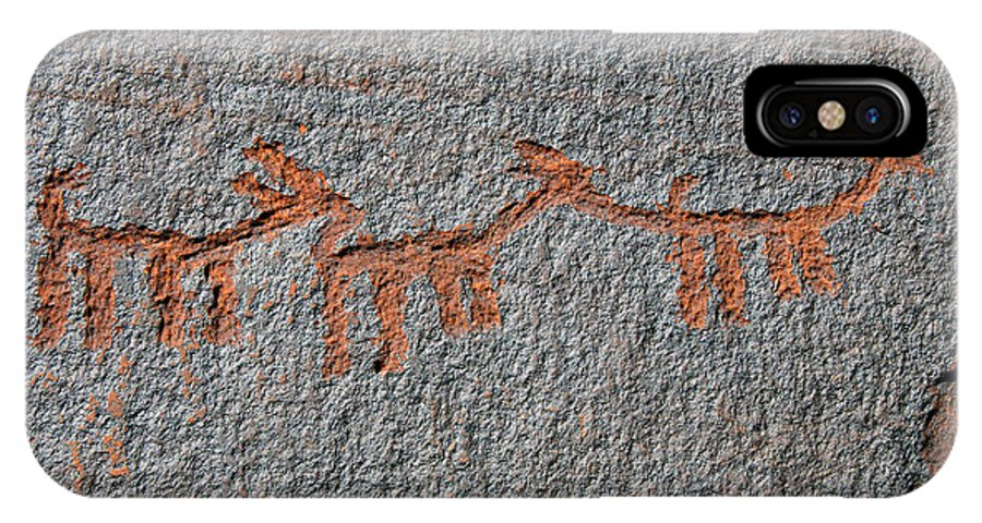 Petroglyphs IPhone X Case featuring the photograph Three Deer by David Lee Thompson