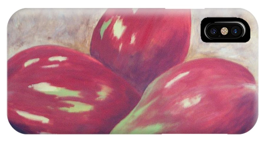 Mangos IPhone X Case featuring the painting Three Mangos by Jeanie Watson