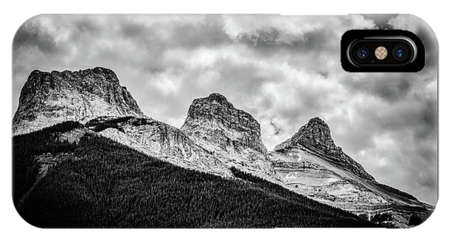 The Three Sisters IPhone X Case featuring the photograph Three Sisters Alberta by Karl Anderson