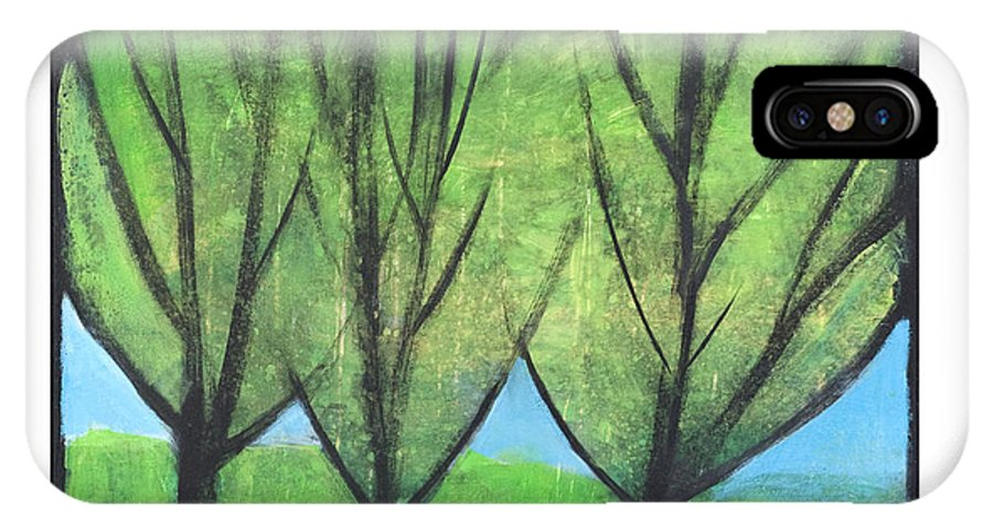 Trees IPhone Case featuring the painting Three Sisters by Tim Nyberg