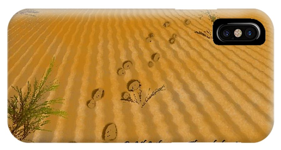 Landscape IPhone X Case featuring the digital art Through Desert by Dr Loifer Vladimir