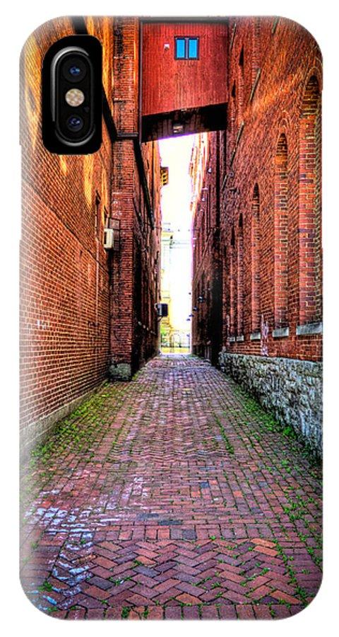 Marietta IPhone X Case featuring the photograph Through Marietta Ohio by Jonny D