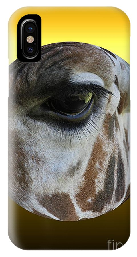 Giraffe IPhone X Case featuring the photograph Through My Eyes by Rick Rauzi