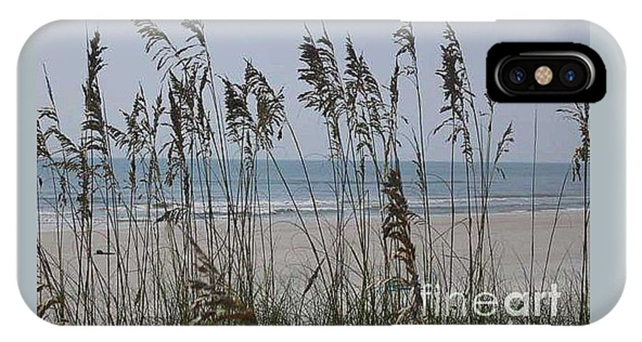 Florida Beach Near St. Augustine IPhone X / XS Case featuring the photograph Thru The Sea Oats by Barb Montanye Meseroll