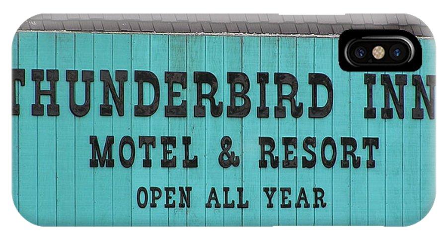 Thunderbird Inn IPhone X Case featuring the photograph Thunderbird Inn - Iconic Sign In Wildwood by Anna Maria Virzi