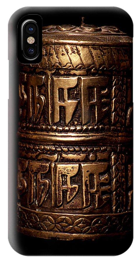 Prayer Wheel IPhone Case featuring the photograph Tibetan Prayer Wheel by Patrick Klauss