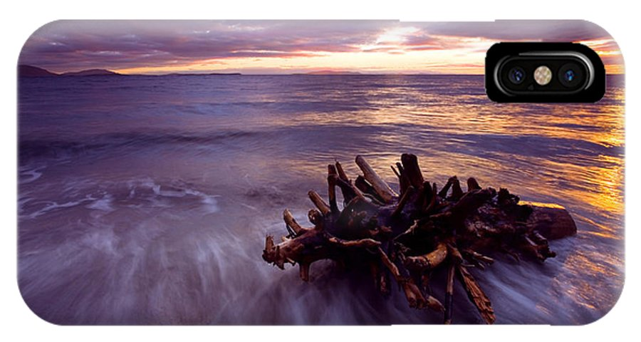 Sunset IPhone X Case featuring the photograph Tide Driven by Mike Dawson
