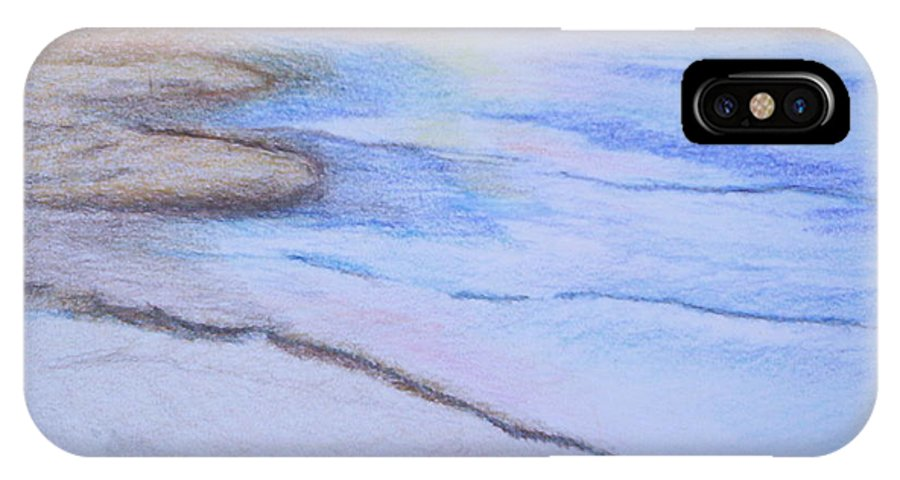 Landscape IPhone X Case featuring the drawing Tide Is Out by Suzanne Udell Levinger